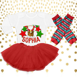 Christmas Baby Outfit 08-Custom Name
