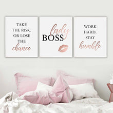 Load image into Gallery viewer, Lady Boss Canvas Art Set I 01 -3 Pieces