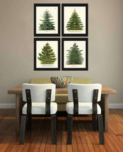 Load image into Gallery viewer, Christmas Trees Art Canvas 03-4 Pieces