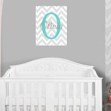 Load image into Gallery viewer, Monogram Nursery Canvas Art 07