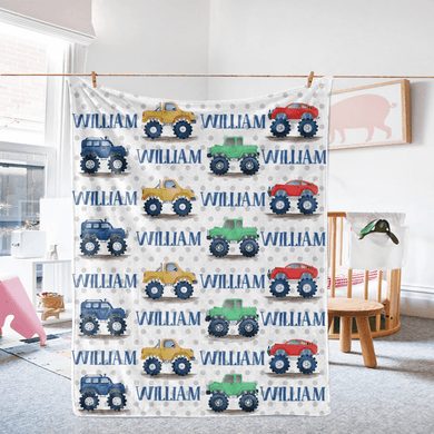 Custom Name Fleece Blanket 01