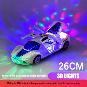 Electric Automatic Deformation Lifting 360 Degree Rotating Speed Toy Car