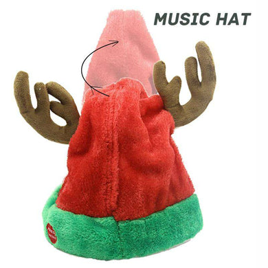 Christmas Electric Funny Hat Will Sing And Dance 03