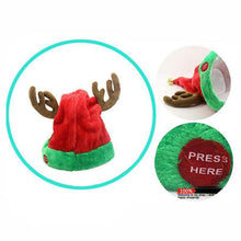 Load image into Gallery viewer, Christmas Electric Funny Hat Will Sing And Dance 03