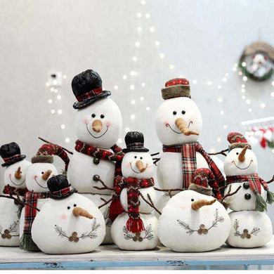 Assorted Poly-Cotton Plush Standing Snowman 01