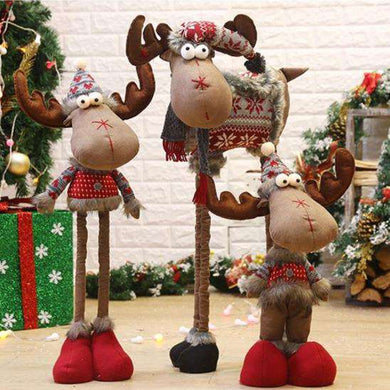 Assorted Poly-Cotton Plush Standing Funny Reindeer 04