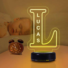 Load image into Gallery viewer, Custom Alphabet Night Lights Personalized Name Lamp