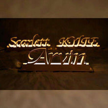 Load image into Gallery viewer, Personalized Wooden Engraved Name Night Light 01