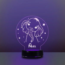 Load image into Gallery viewer, Personalized Name Night Lights for Kids Cartoon Elephant 07