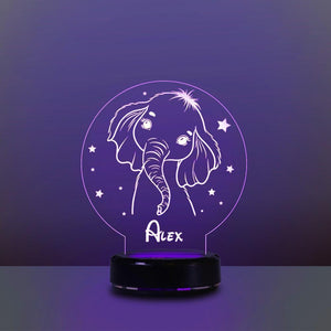 Personalized Name Night Lights for Kids Cartoon Elephant 07