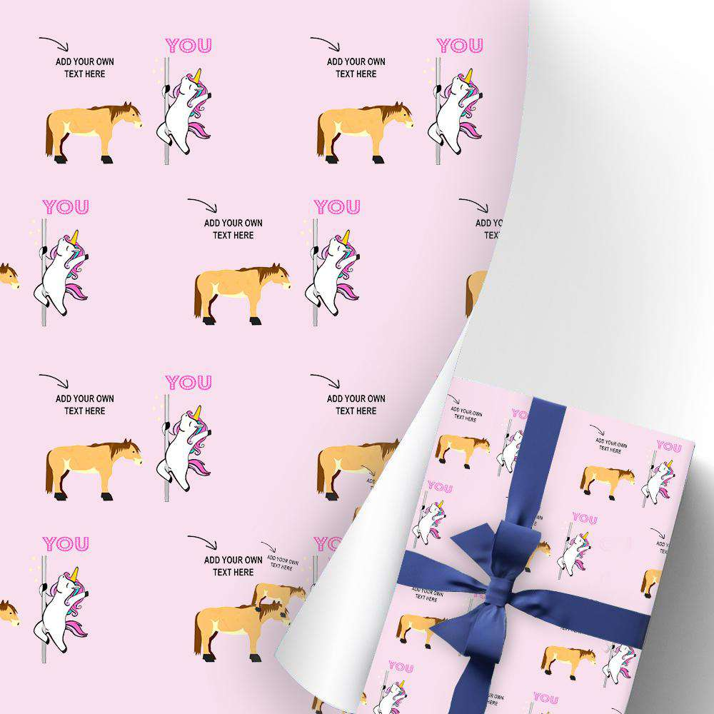 Custom Gift Wrapping Paper 3 Rolls Unicorn I03