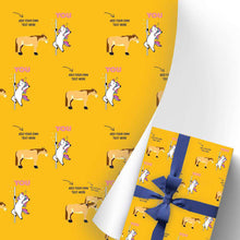 Load image into Gallery viewer, Custom Gift Wrapping Paper 3 Rolls Unicorn I03
