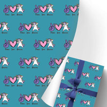 Load image into Gallery viewer, Gift Wrapping Paper 3 Rolls Funny Unicorn I04