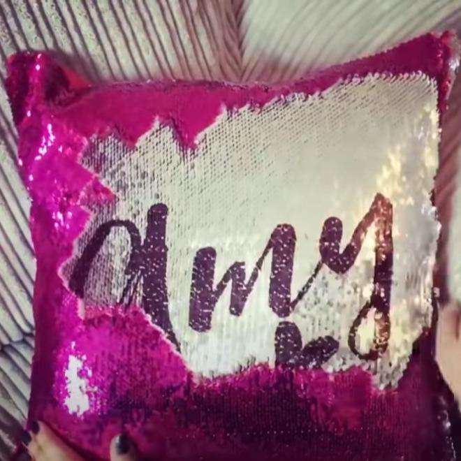 Custom Sequined Sensory Pillows 01