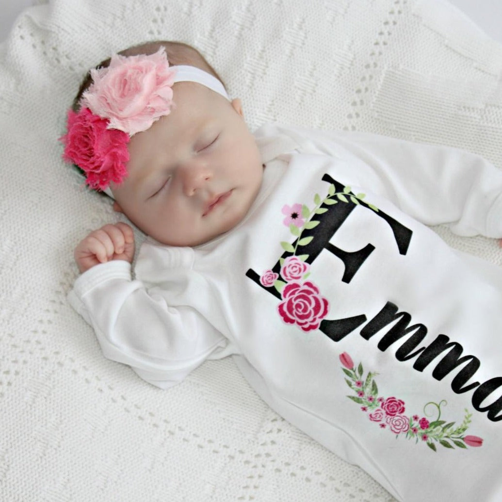 Newborn Girl Take Home Outfit-Emma