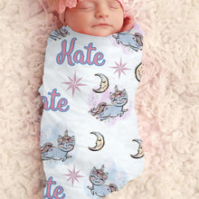Load image into Gallery viewer, Baby Swaddle Fleece Blanket-Unicorn4