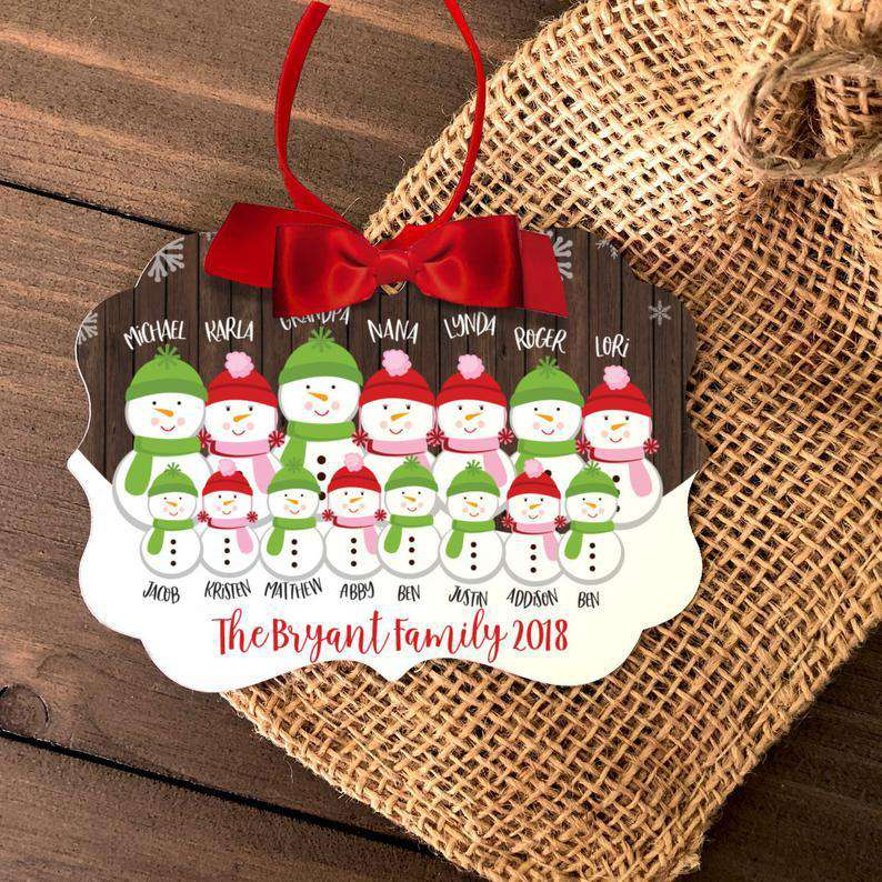 Personalized 2020 Family Christmas Ornament II04