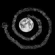 Load image into Gallery viewer, Silver Full Moon Necklace