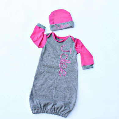 Personalized Baby Clothes Pink V-12