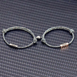 Personalized 1 pair Adjustable Braided Bracelet