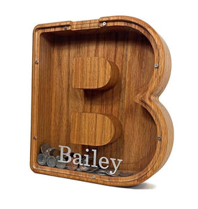 Personalized Boys/Girls Piggy Bank, Wood Gift For Kids