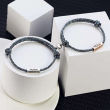 Load image into Gallery viewer, Personalized 1 pair Adjustable Braided Bracelet