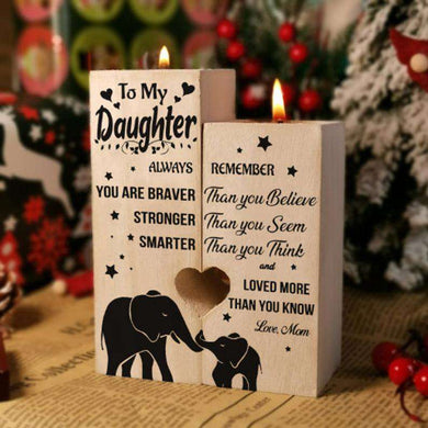 2020 Xmas Mom To My Daughter Pair Candle Holder Gift 01
