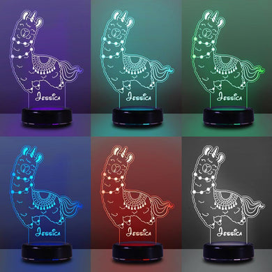 Personalized Name Night Lights for Kids Sweet Dream Lama 04