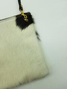JEAN cross body bag white & brown small