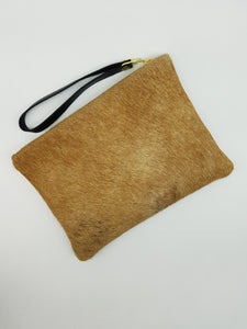 ELLE clutch tan & white large