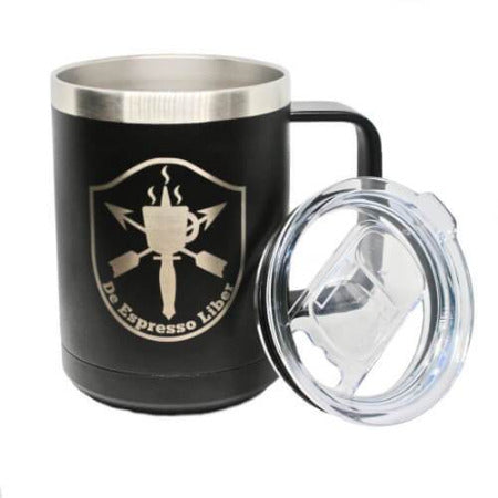 DEL Black Steel Freedom Mug