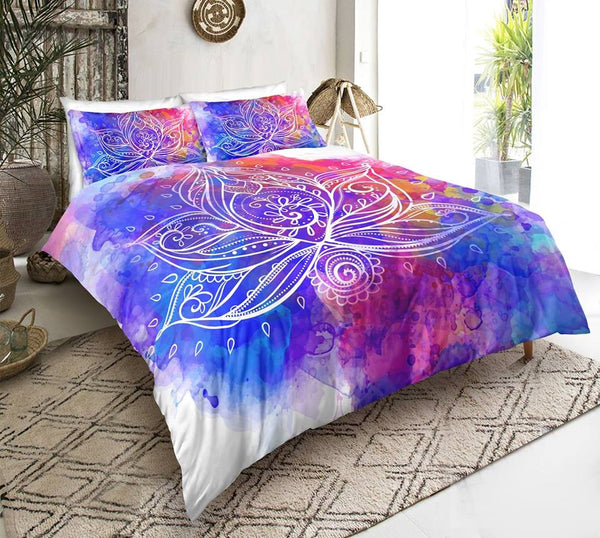 Water Colour Lotus Doona Set