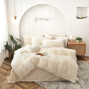 Plush Doona Set - Cream