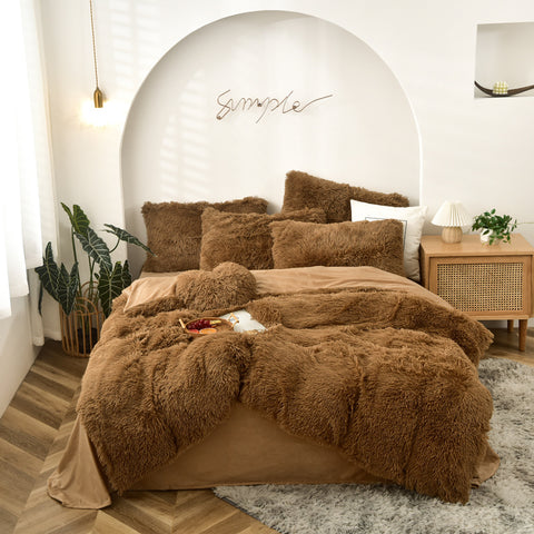 Plush Doona Set - Chocolate