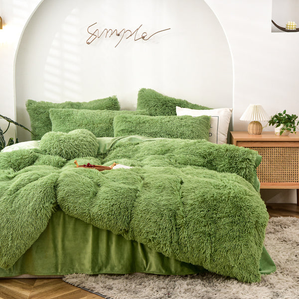 Plush Doona Set - Avocado