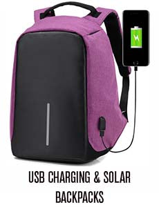USB Charging and Solar Backpacks