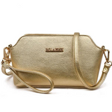 Shell / Crossbody Bag  <br>Genuine-Leather Handbag Gold - strapsandbrass.com