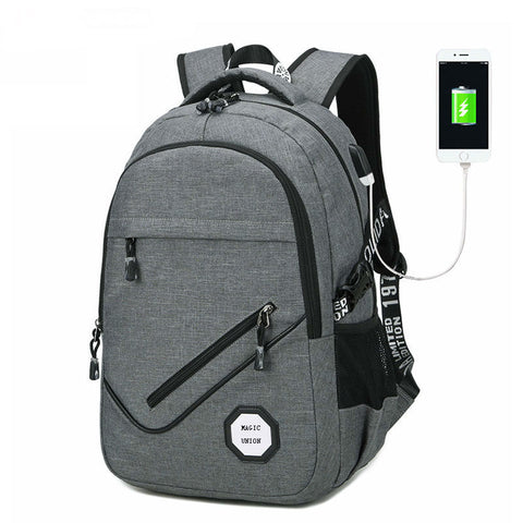 Copy of Backpack USB Charging & Business<br>Oxford Backpack  - strapsandbrass.com