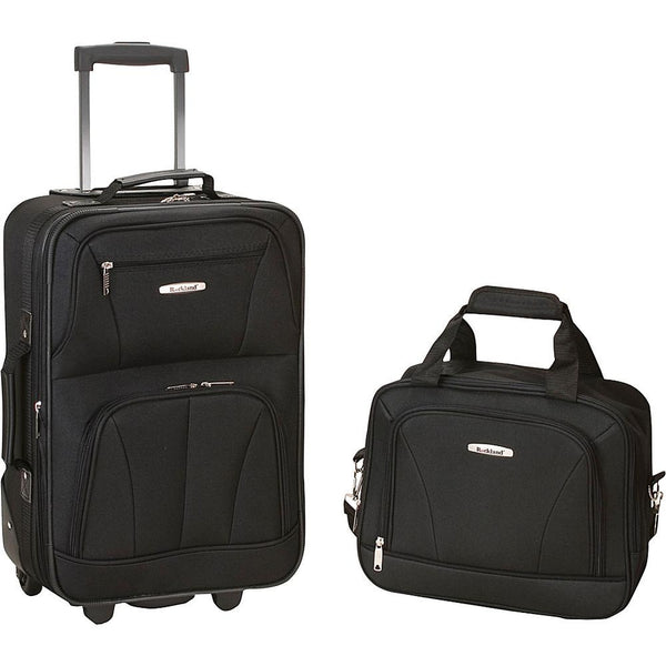 famous luggage riot 2 piece carry on luggage set 29 colors Luggage Black - strapsandbrass.com