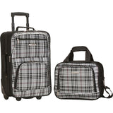 famous luggage riot 2 piece carry on luggage set 29 colors Luggage Black Cross - strapsandbrass.com