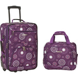 famous luggage riot 2 piece carry on luggage set 29 colors Luggage Purple Pearl - strapsandbrass.com