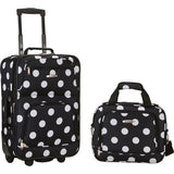 famous luggage riot 2 piece carry on luggage set 29 colors Luggage Black Dot - strapsandbrass.com