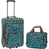 famous luggage riot 2 piece carry on luggage set 29 colors Luggage Blue LEOPARD - strapsandbrass.com