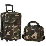 famous luggage riot 2 piece carry on luggage set 29 colors Luggage Camouflage Green - strapsandbrass.com