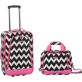famous luggage riot 2 piece carry on luggage set 29 colors Luggage PinkCHEVRON - strapsandbrass.com