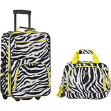 famous luggage riot 2 piece carry on luggage set 29 colors Luggage Lime Zebra - strapsandbrass.com
