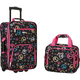 famous luggage riot 2 piece carry on luggage set 29 colors Luggage Peace - strapsandbrass.com