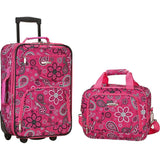famous luggage riot 2 piece carry on luggage set 29 colors Luggage Pink Bandana - strapsandbrass.com