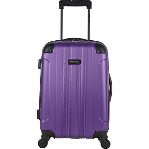 "famous reaction out of bounds 20"" spinner hard side carry-on Luggage Purple - strapsandbrass.com"