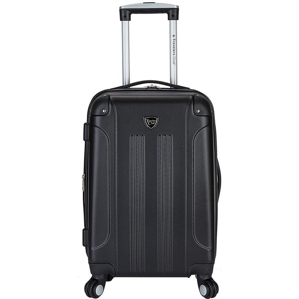 "famous luggage Chicago 20"" hardside exp. hardside carry-on luggage Black[out of stock] - strapsandbrass.com"